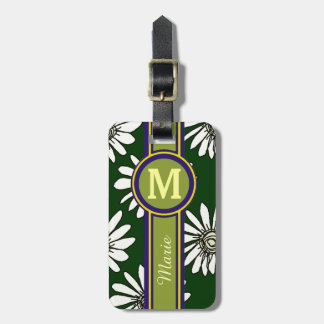 flowers personalized travel luggage tag