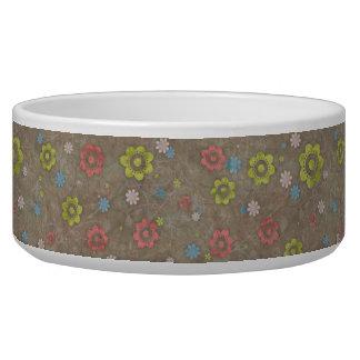 Flowers, Petals, Blossoms - Red Green Blue Brown Pet Bowl