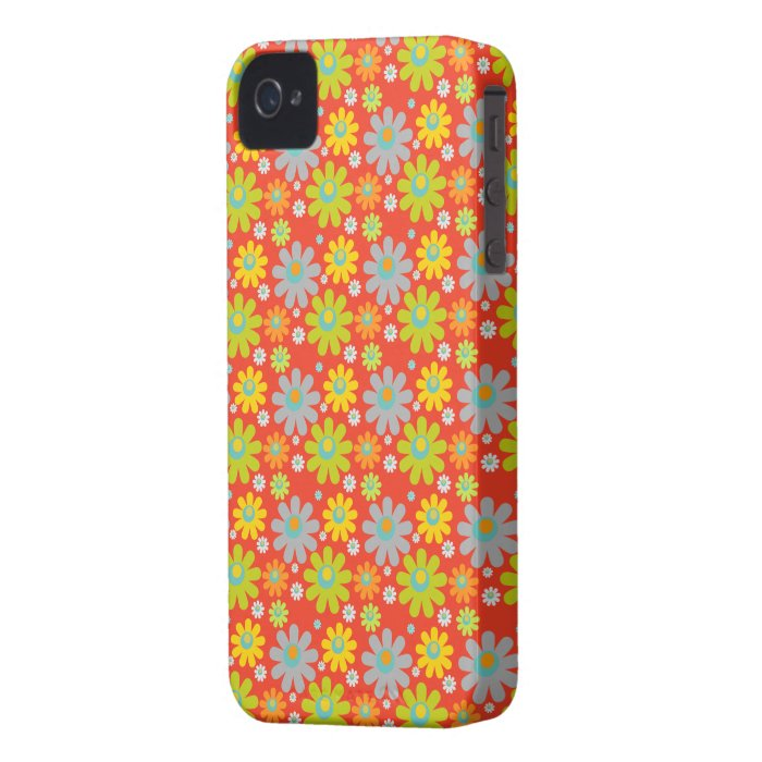 Flowers, Petals, Blossoms - Red Green Blue Yellow iPhone 4 Cover