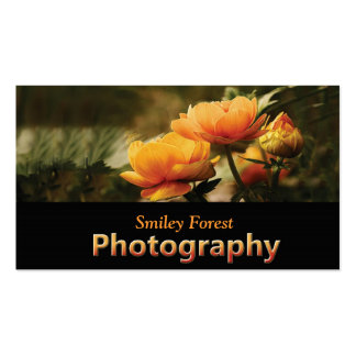 Flowers_photo_photography_business cards business card