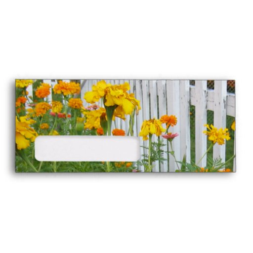 Flowers & Picket Fence Envelopes