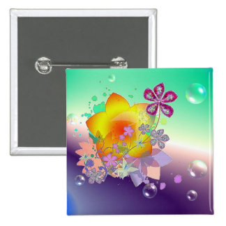 Flowers Pinback Button