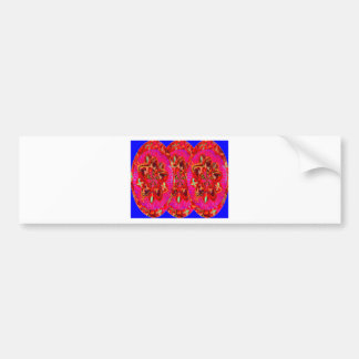 Flowers Pink from Temple Walls Bumper Sticker
