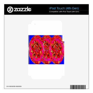 Flowers Pink from Temple Walls Skin For iPod Touch 4G