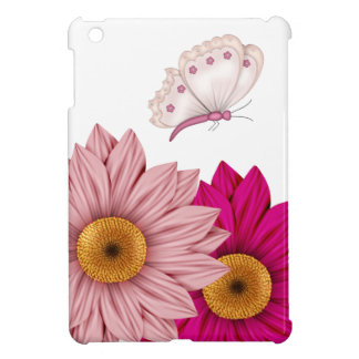 Flowers Pink Mauve Butterfly Yellow Floral iPad Mini Cover