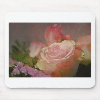 flowers pink roses bouquet rose romantic mouse pad