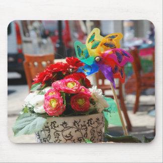 Flowers & Pinwheel Mouse Pad