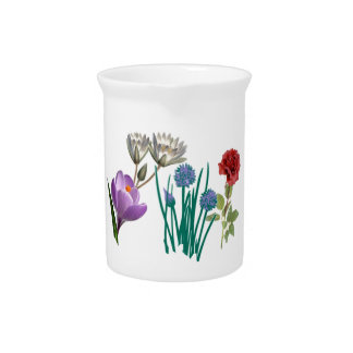 FLOWERS PITCHER