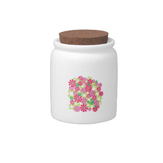Flowers Plant Candy Jar