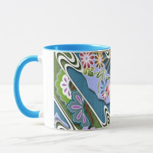 Flowers, plants and fans mug