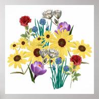 FLOWERS POSTER Print