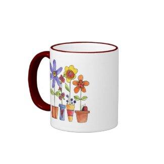 Flowers pots mug