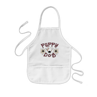 Flowers Puppy Dog T-shirts and Gifts Apron