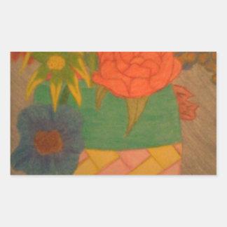Flowers Rectangular Sticker