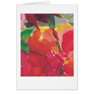 Flowers, red, yellow, pink card