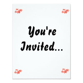 """Flowers Salmon Tinted Ground Orchid 4.25"""" X 5.5"""" Invitation Card"""