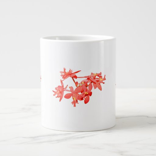 Flowers Salmon Tinted Ground Orchid Jumbo Mug