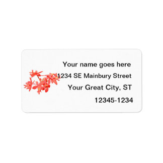 Flowers Salmon Tinted Ground Orchid Label
