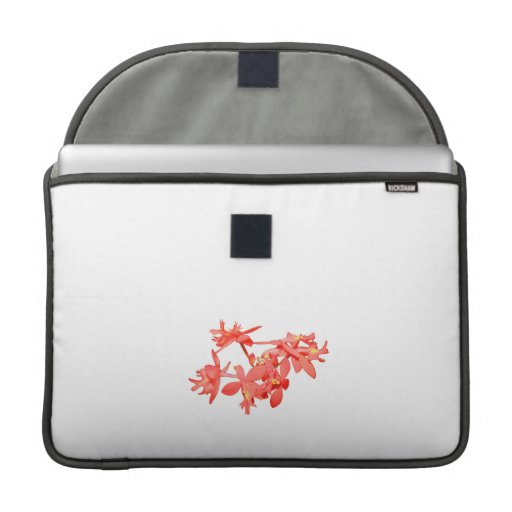 Flowers Salmon Tinted Ground Orchid Sleeves For MacBook Pro