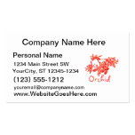 Flowers Salmon Tinted Text Ground Orchid Business Card Template