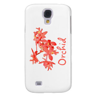 Flowers Salmon Tinted Text Ground Orchid Samsung Galaxy S4 Covers