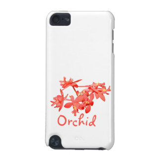 Flowers Salmon Tinted Text Ground Orchid iPod Touch 5G Covers