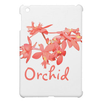 Flowers Salmon Tinted Text Ground Orchid iPad Mini Covers