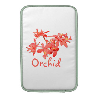 Flowers Salmon Tinted Text Ground Orchid MacBook Air Sleeves