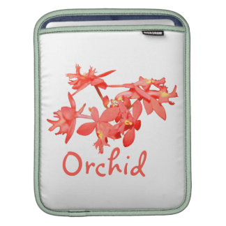Flowers Salmon Tinted Text Ground Orchid Sleeve For iPads