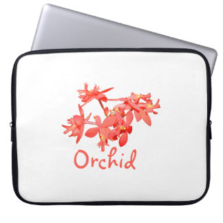 Flowers Salmon Tinted Text Ground Orchid Laptop Computer Sleeve