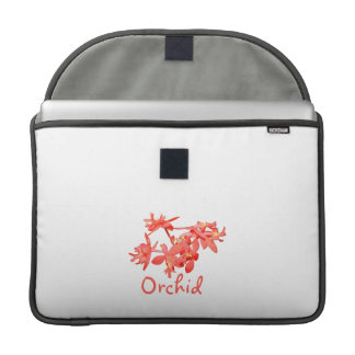 Flowers Salmon Tinted Text Ground Orchid Sleeve For MacBooks