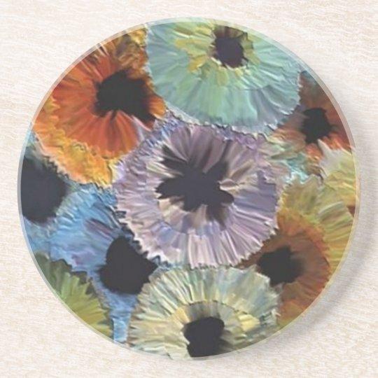 Flowers Sandstone Coaster