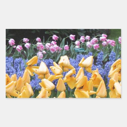 Flowers say it all, tulip time at Keukenhof Rectangular Sticker