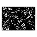 Flowers Scrolls Abstract - Customize Template Cards