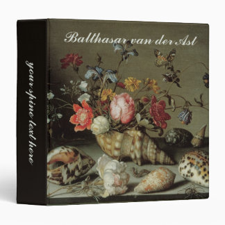 Flowers, Shells and Insects Balthasar van der Ast 3 Ring Binder