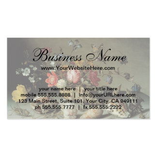 Flowers, Shells and Insects Balthasar van der Ast Business Card