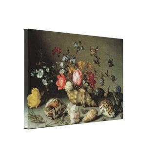 Flowers, Shells and Insects Balthasar van der Ast Stretched Canvas Prints