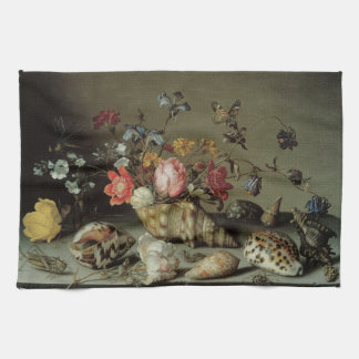 Flowers, Shells and Insects Balthasar van der Ast Hand Towel