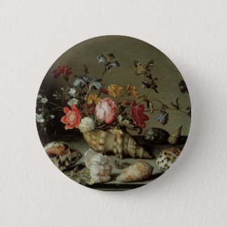 Flowers, Shells and Insects Balthasar van der Ast Pinback Button