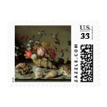 Flowers, Shells and Insects Balthasar van der Ast Stamp