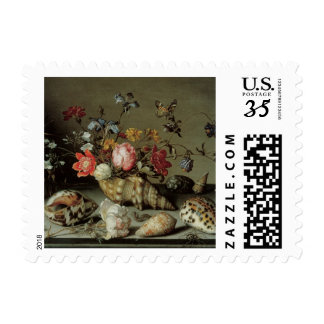 Flowers, Shells and Insects Balthasar van der Ast Stamps