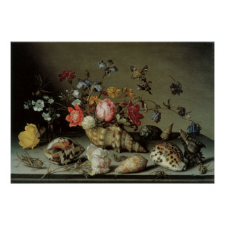 Flowers, Shells and Insects Balthasar van der Ast Poster
