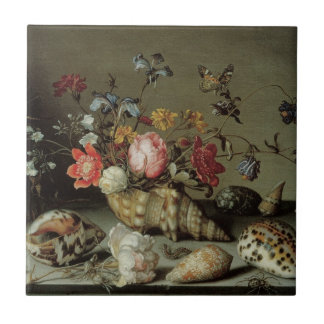 Flowers, Shells and Insects Balthasar van der Ast Tile