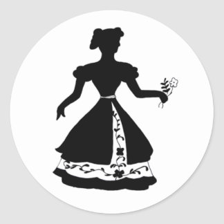 Flowers silhouette stickers
