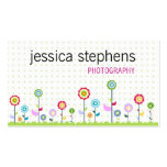 Flowers, simplistic Double-Sided standard business cards (Pack of 100)
