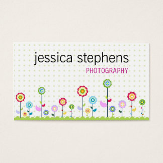 Flowers, simplistic business card