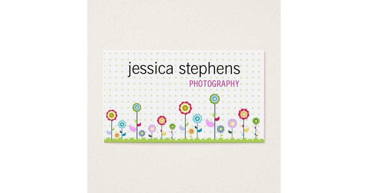 Flowers, simplistic business card | Zazzle.com