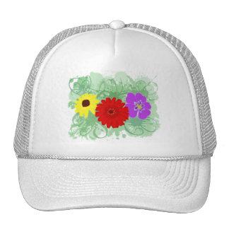 Flowers & Splatters Trucker Hat