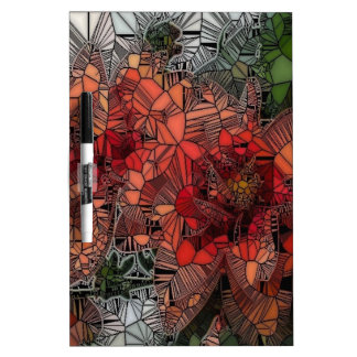 flowers such as stained glass Dry-Erase whiteboards