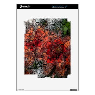 flowers such as stained glass skin for iPad 2